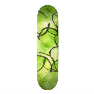 art avant-garde hand paint background green skateboard deck