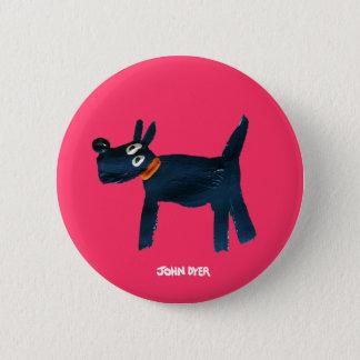Art Badge Button: John Dyer Scotty Dog, Bella Pinback Button