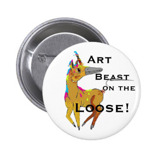 Art Beast on the Loose! 2 Inch Round Button