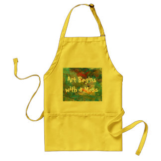 Art Begins with a Mess Apron