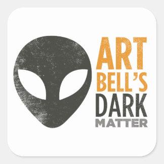 Art Bell's Dark Matter (Alien Head) Square Sticker