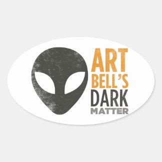 Art Bell's Dark Matter (Alien Head) Oval Sticker