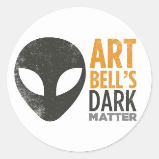 Art Bell's Dark Matter (Alien Head) Round Sticker