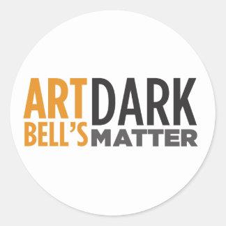 Art Bell's Dark Matter Round Stickers