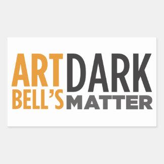 Art Bell's Dark Matter Rectangle Stickers