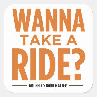 Art Bell's Dark Matter (Wanna Take A Ride?) Stickers