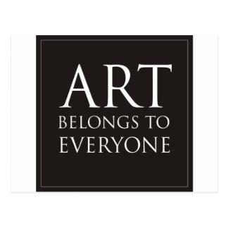 Art Belongs To Everyone Post Cards