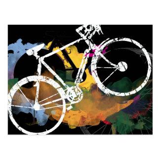 art bicycle digital painting postcard