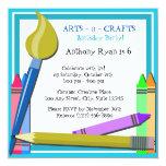 Art Birthday Party Custom Invitations