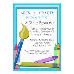 Art Birthday Party Custom Invites