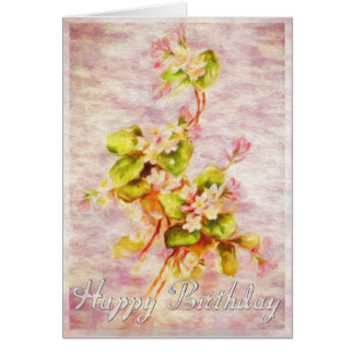 Art Blossom Birthday Card