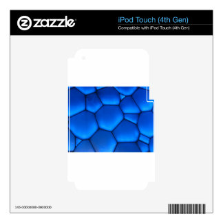 art Blue Dark Stone Decal For iPod Touch 4G
