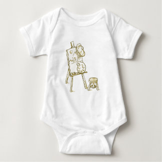 Art Board Illustration Baby Bodysuit