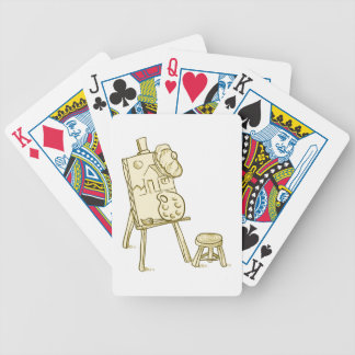 Art Board Illustration Bicycle Playing Cards