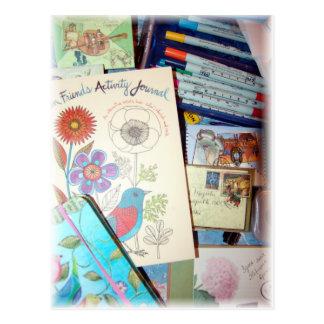 Art Book Inspiration Postcard