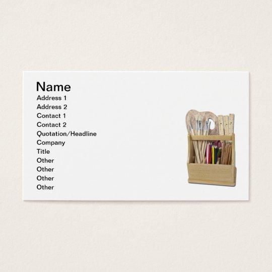 Art Box Brushes Pencils Business Card