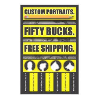 Art bulletin personalized flyer