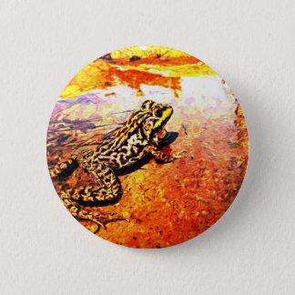 Art Bullfrog Pinback Button