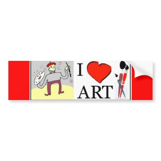 Art bumpersticker