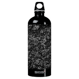 art burn smoke Abstract Antique Junk Style Fashion Aluminum Water Bottle