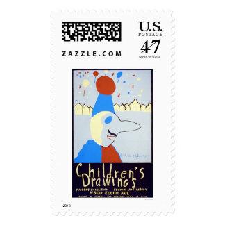Art By Children 1939 WPA Postage