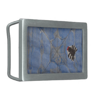 Art by Children Spider with cobweb drawing Belt Buckle