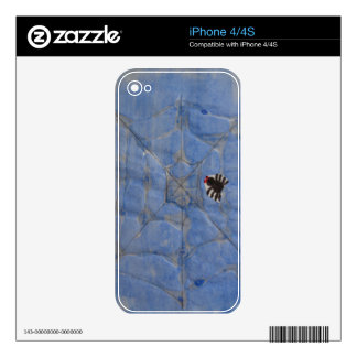 Art by Children, Spider with cobweb, drawing iPhone 4S Decal