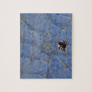 Art by Children, Spider with cobweb, drawing Jigsaw Puzzle