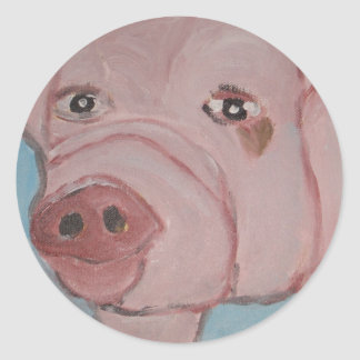 art by eric ginsburg classic round sticker