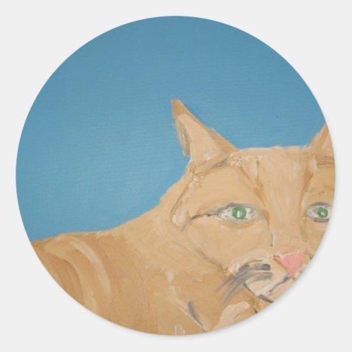 art by eric ginsburg round sticker
