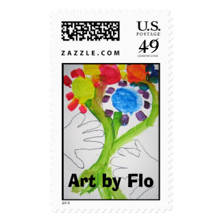 Art by Flo Postage Stamps