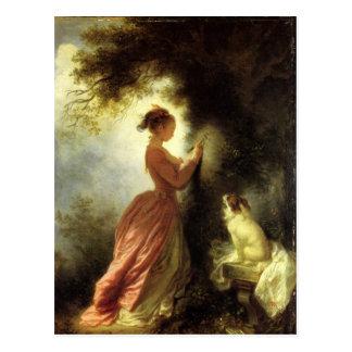 Art by Fragonard Postcard