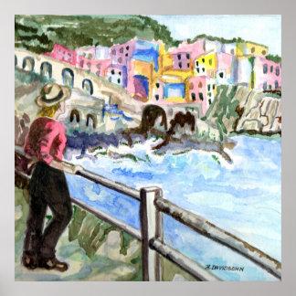 "ART BY HARRIET DAVIDSOHN - ""WATERFRONT"" - GALLERY POSTER"