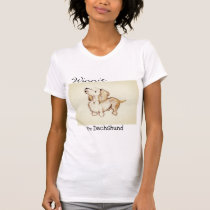 Art by Heather Winnie the dachshund crew neck T-Shirt