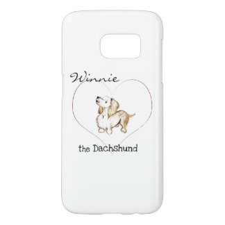 """Art by Heather"" winnie the Dachshund  S7 Samsung Samsung Galaxy S7 Case"