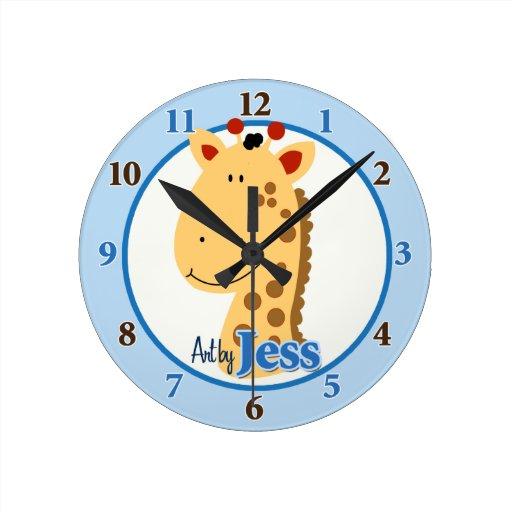 Art by Jess Giraffe Clock