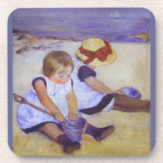 Art by Mary Cassatt/ Beach Cork Coaster