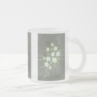 Art by my 100 y/o Mother, Emma Elizabeth Pottinger Frosted Glass Coffee Mug