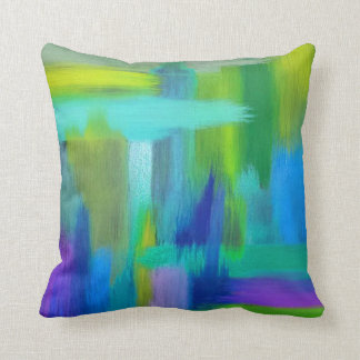 Art by PJ Miller Abstract Blues Pillow