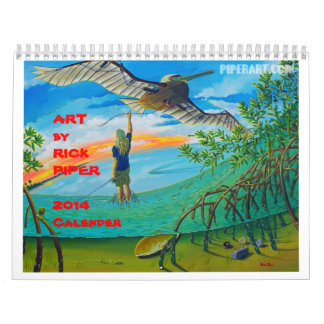 "Art by Rick Piper 2014 - 11""x17"" Wall Calendars"
