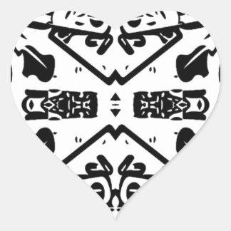 Art By Shay Sanders Heart Sticker