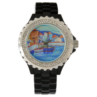 Art By Stamos Chios Harbor Watch