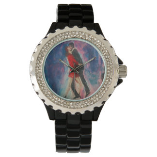 """Art By Stamos """"Tango"""" painting watch"""