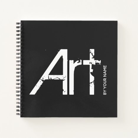 Art by Your Name Typographic Sketchbook Notebook