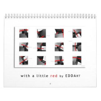 ART calendar - with a little red Calendars