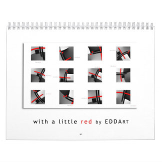 ART calendar - with a little red