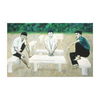 "Art Canvas - ""Interaction"" Canvas Print"
