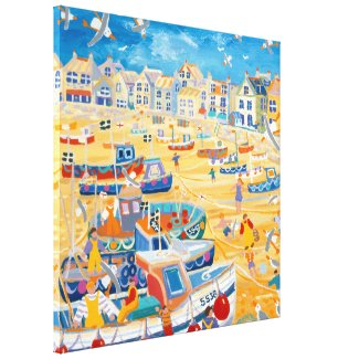 Art Canvas Print: St Ives Harbour, Cornwall wrappedcanvas