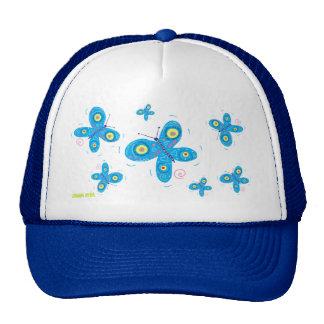 Art Cap: Blue Butterflies Trucker Hat