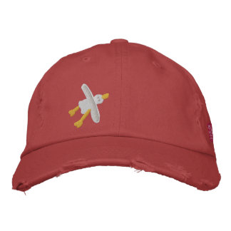 Art Cap: John Dyer Seagull and Beachy Treats Badge Embroidered Baseball Hat